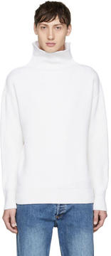 Rag & Bone Off-White Andrew Funnel Neck Sweater