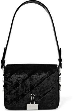 Off-White - Embossed Velvet Shoulder Bag - Black