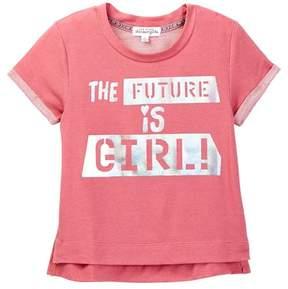 Ten Sixty Sherman Short Sleeve The Future is Girl Tee (Big Girls)