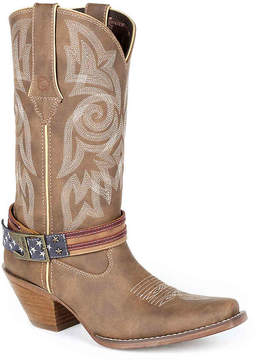 Durango Women's Flag Strap Cowboy Boot
