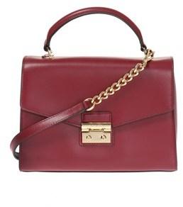 Michael Kors Women's Purple Leather Handbag. - PURPLE - STYLE