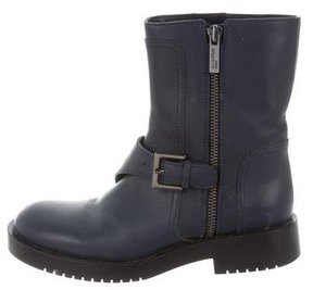 Jil Sander Leather Moto Ankle Boots