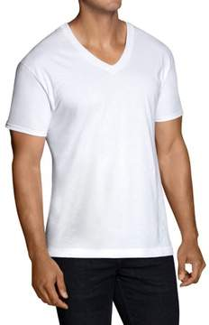 Fruit of the Loom Big Men's Classic White V-Neck T-Shirts, 5 Pack