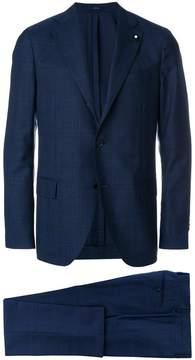 Lardini check slim fit suit