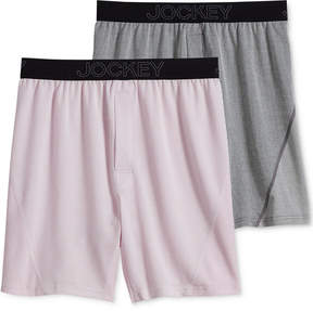 Jockey Men's 2-Pack Knit No Bunch Boxer