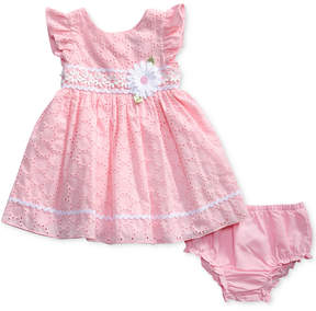 Sweet Heart Rose Floral-Trim Eyelet Dress, Baby Girls (0-24 months)
