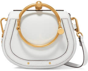 Chloé Nile Bracelet Small Textured-leather Shoulder Bag - Gray