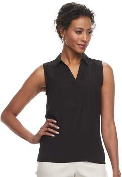 Dana Buchman Women's Sleeveless Splitneck Top
