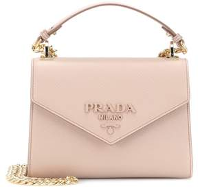 Prada Monochrome leather shoulder bag