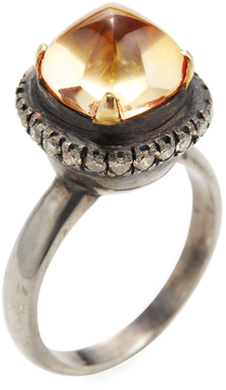 Amrapali Women's 18K Gold, Citrine & 0.60 Total Ct. Diamond Pyramid ring