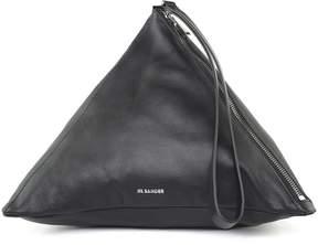 Jil Sander Triangle Medium Smooth-leather Handbag