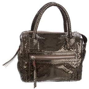 Carlos Falchi Metallic Snakeskin Bag