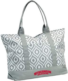 NCAA Logo Brand Wisconsin Badgers Ikat Tote