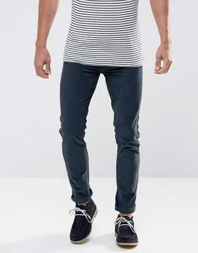 Farah Drake Slim Fit Stretch Cord Pants in Navy
