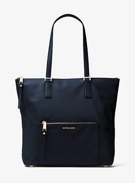 Michael Kors Ariana Large Nylon And Leather Tote - BLUE - STYLE