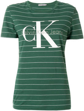 Calvin Klein Jeans striped logo T-shirt