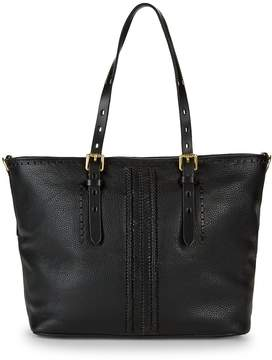 Cole Haan Women's Loralie Whipstitch Top Zip Leather Tote