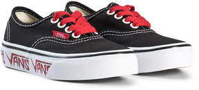 Vans Black and Red Sketch Sidewall Authentic Sneakers