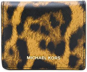 MICHAEL Michael Kors animal print cardholder - NUDE & NEUTRALS - STYLE