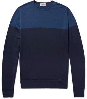 John Smedley Colour-Block Wool Sweater