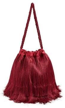 MANGO Satin fringed bag