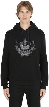 Crown Embroidered Hooded Sweatshirt