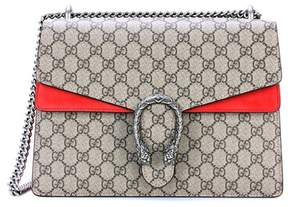 Gucci Dionysus GG Supreme Medium coated canvas and suede shoulder bag
