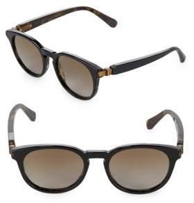 Brioni 51MM Round Sunglasses