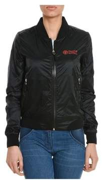 Franklin & Marshall Women's Black Polyester Outerwear Jacket.