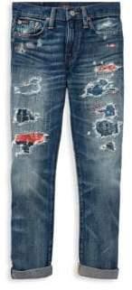 Ralph Lauren Little Boy's& Boy's Distressed Jeans