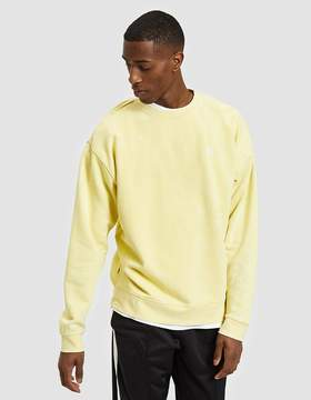 Obey Fade Pigment Crew in Yellow
