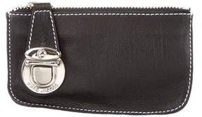 Marc Jacobs Leather Key Pouch - BLACK - STYLE