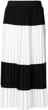 Mantu colour contrast pleated skirt