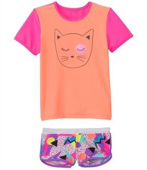 Seafolly Girls' Memphis Meow Rashguard Set (1yr6yrs) - 8133204