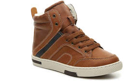 Steve Madden Boys Stripee Youth High-Top Sneaker