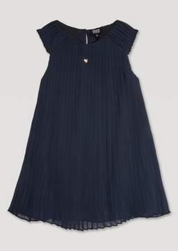 Armani Junior Pleated Crepe Dress