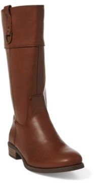Ralph Lauren Mesa Faux-Leather Riding Boot Chocolate Tumbled 4
