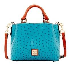Dooney & Bourke Ostrich Mini Barlow Top Handle Bag. - JEAN - STYLE