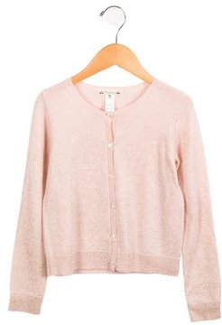 Bonpoint Girls' Wool Metallic-Accented Cardigan