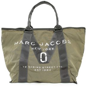 Marc Jacobs Logo Nylon And Cotton Tote Bag - VERDE - STYLE