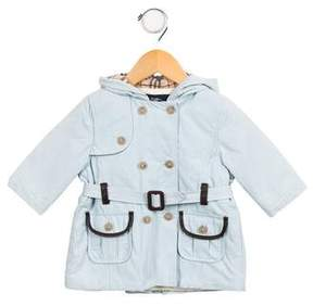 Burberry Girls' Hooded Trench Coat