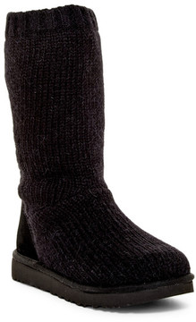 UGG Capra Ribbed Knit Genuine Shearling Lined Boot