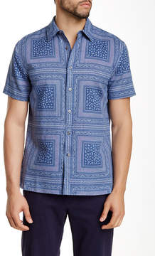 Perry Ellis Short Sleeve Paisley Square Regular Fit Shirt