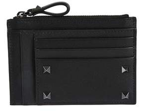 Valentino Men's Py2p0688vh30no Black Leather Card Holder.