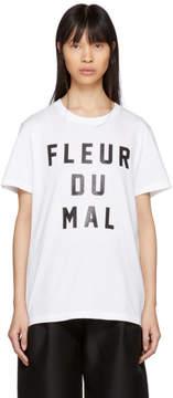 Fleur Du Mal White Logo T-Shirt
