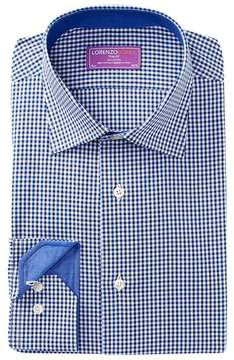 Lorenzo Uomo Gingham Check Trim Fit Dress Shirt