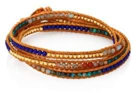 Chan Luu Sodalite & Agate Wrap Bracelet