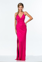 Terani Couture - 151P0055A Sparkling Plunging V Neck Long Dress
