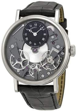 Breguet Tradition Black Skeleton Dial 18kt White Gold Black Leather Men's Watch 7027BBG99V6