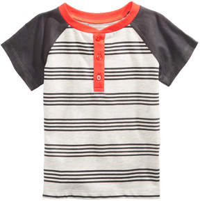 First Impressions Striped Henley T-Shirt, Baby Boys (0-24 months), Created for Macy's